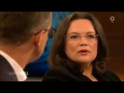 TV Streit: Andrea Nahles (SPD) bekommt bei Anne Will die Leviten gelesen: Renten Sauerei 1