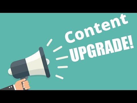 Video about content upgrades and why you should be using them as often as possible to get the best leads for your business.