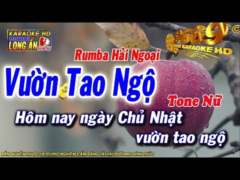 Karaoke Nhạc sống - Vườn Tao Ngộ   Tone NỮ   Beat chất lượng cao 9669