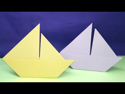 2d Paper Sailboat Super Easy Tutorial For Kids | How to make an Origami Boat