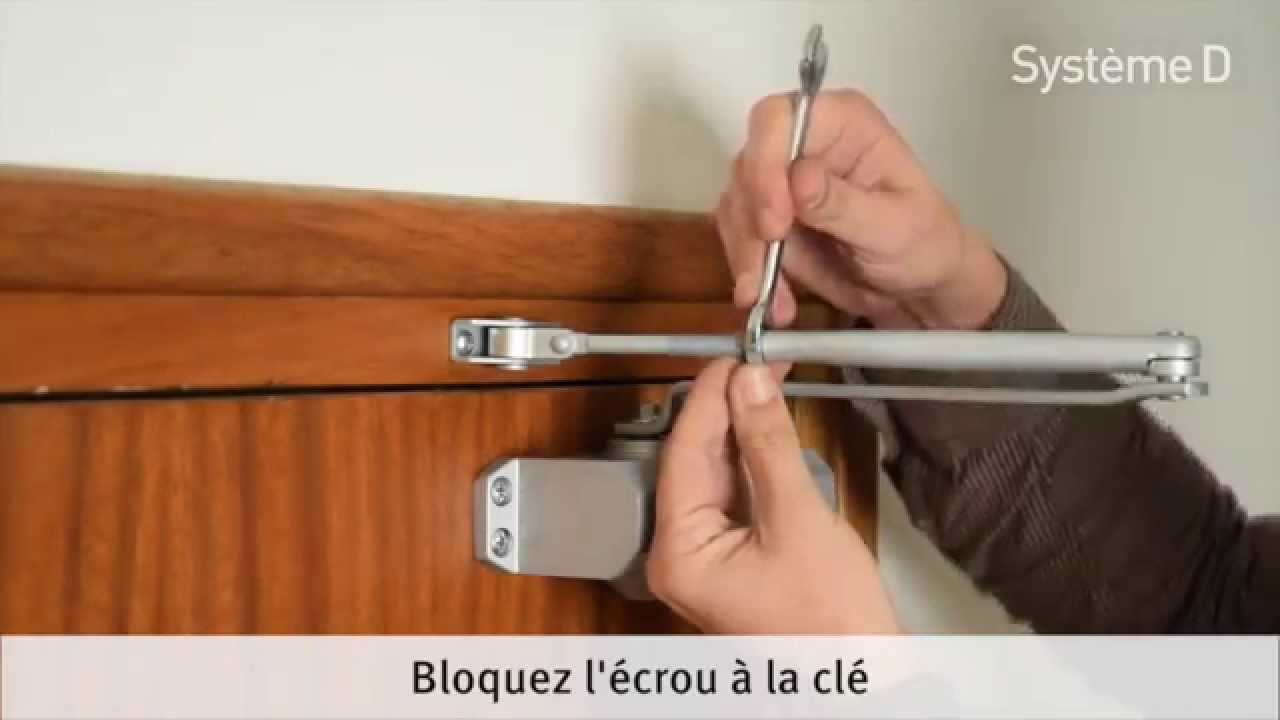 Installer Un Ferme-porte Hydraulique - YouTube