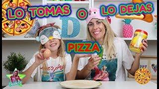 LO TOMAS O LO DEJAS PIZZA!! Take it or Leave it Pizza Challenge con mi Madre!! Daniela Go