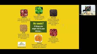 Short presentation: seeds and nurseries - setting up your seedling nurseries