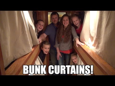 School Bus Conversion Bunk Curtains | Traveling Across North America | Bus Life