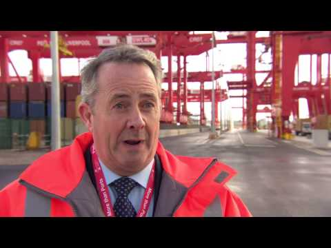 Rt. Hon Dr Liam Fox at Liverpool2 launch