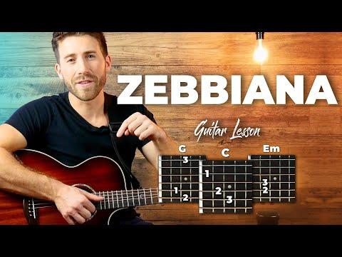 Zebbiana - Skusta Clee - Guitar Tutorial (Lesson) For Beginners // Plucking + Easy Chords thumbnail