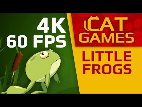 CAT GAMES - LITTLE FROGS (VIDEO FOR CATS TO WATCH) 4K 60FPS 1 HOUR