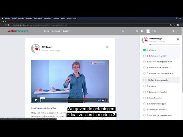 metatarsalgie Online Training Metatarsalgie impressie