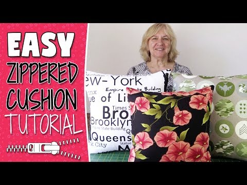 How to make decorative pillows with zippers