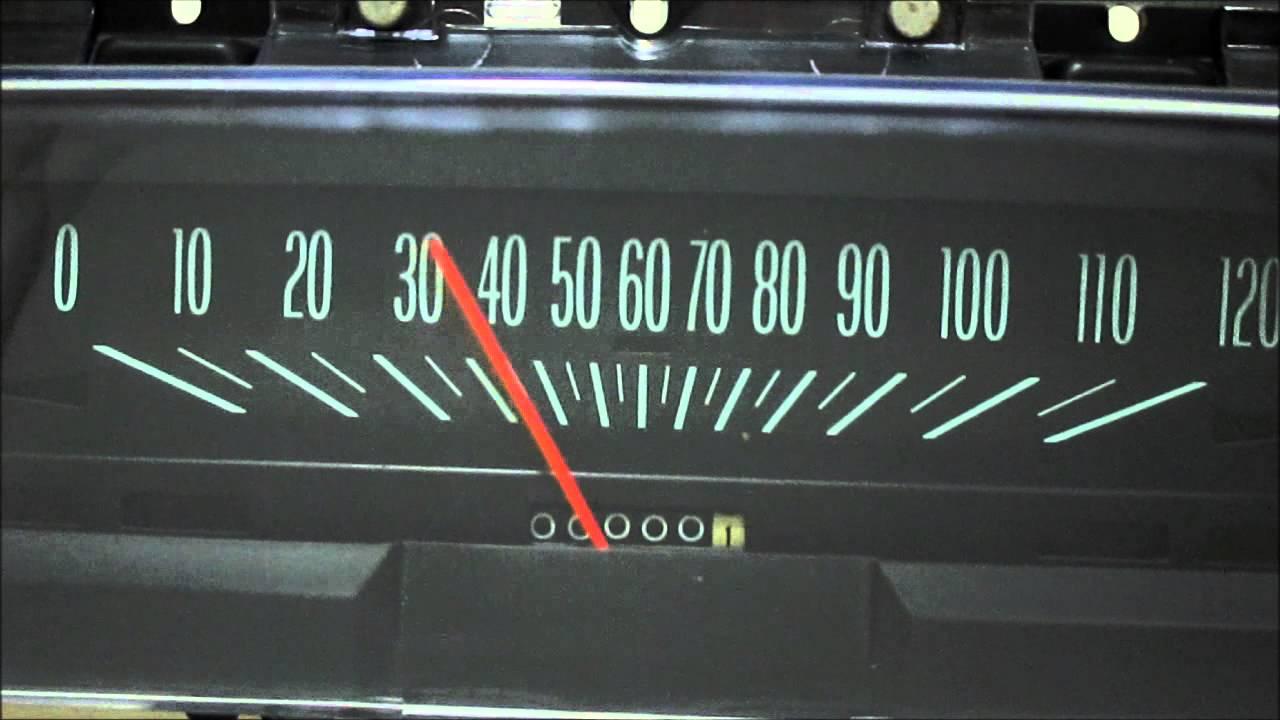 69 74 Nova Speedometer Demonstration Youtube