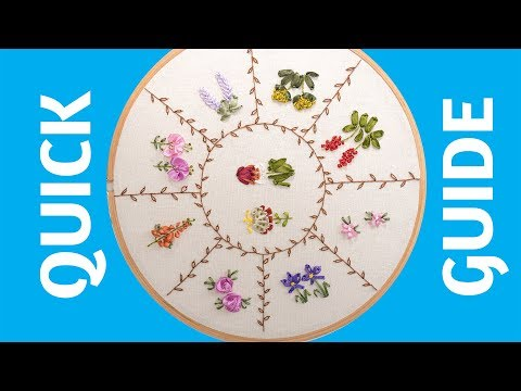 Hand Embroidery Quick Guide: 10 Ribbon Embroidery Flowers For Beginners