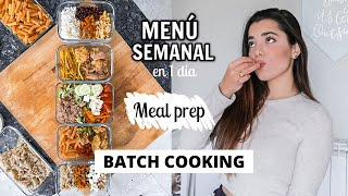 MEAL PREP Menú SALUDABLE para TODA la semana *BATCH COOKING* | Museecoco