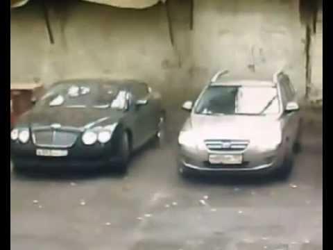 видео дня: в москве цемент уничтожил новый bentley