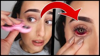 SHE THREW A FIDGET SPINNER IN MY EYE !! (VERY PAINFUL)