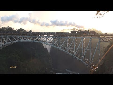 Zimbabwe - Garratt Demo runs over Vic Falls Bridge, July 2017
