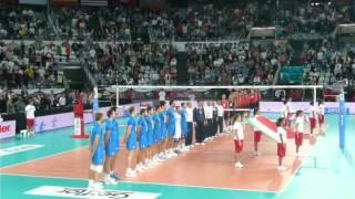 Mondiali Pallavolo 2010 - Italia-USA - Inno nazionale italiano (Fratelli d'Italia)