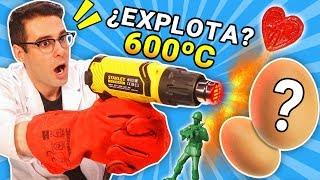 pongo huevos y gomitas vs pistola de calor de 600 grados experimento curiosidades con mike