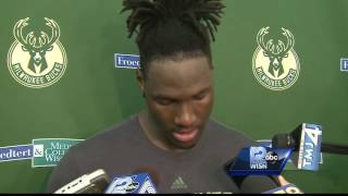 Nigel Hayes works out for the Bucks, makes his case for being drafted