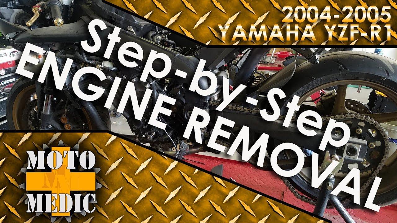 Yamaha R1 Engine Removal - 2004 2005 - Tutorial