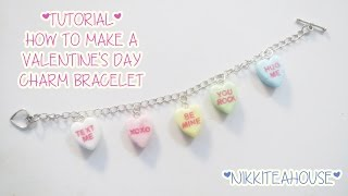Valentine's Day Diy Candy Heart Charm Bracelet!