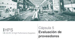 IHPS Cápsula 5: Evaluación de proveedores