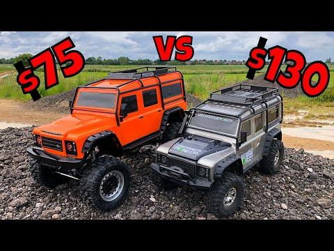 Cheap Vs Cheaper! Cheap RC Land Rover Off Road Test.  TRX4 Clone Vs Toy Defender
