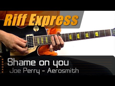 Shame on you (Aerosmith) Riff Express / Guitar Lesson - How to play + TABS