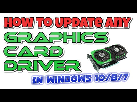 How to Update Any Graphics Card Driver in Windows 10/8/7 -  Latest Tutorial video by New Tech [2020]