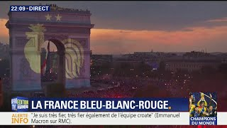 Coupe du monde: revivez l'animation célébrant la deuxième étoile des Bleus sur l'Arc de Triomphe