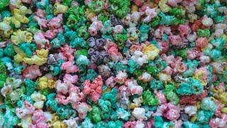Pipoca doce  colorida simples de fazer