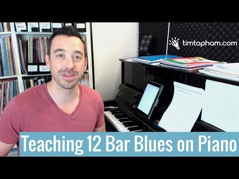 How to Teach the 12 Bar Blues on Piano Lesson 1: Chord Progression