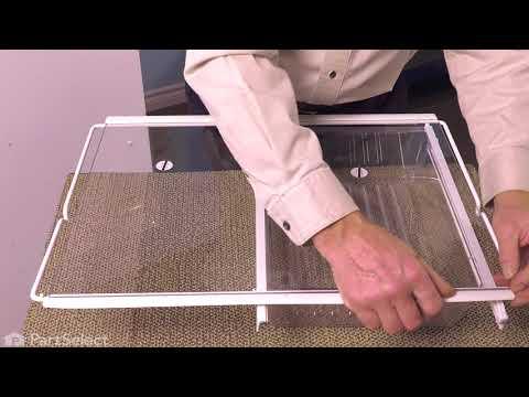Frigidaire Refrigerator Repair - How to Replace the Glass Shelf (Frigidaire Part # 240350619)