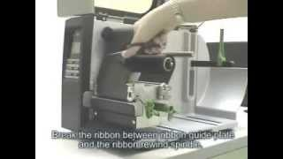 วิธีการใส่ผ้าหมึก , ริบบอนเครื่องพิมพ์บาร์โค้ด TSC TTP 2410M Printer Barcode