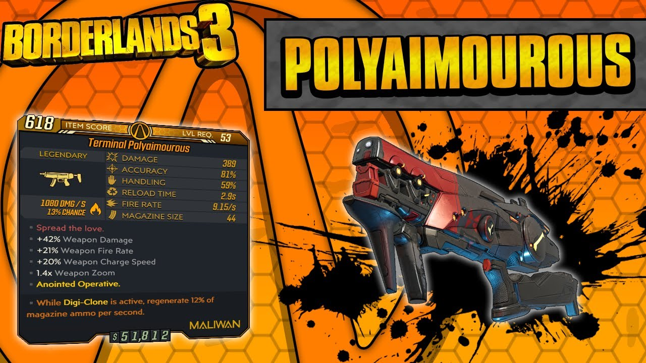 Borderlands 3 | Polyaimourous Legendary Weapon Guide (Chaining Shots!) thumbnail