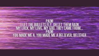 Believer lyrics video