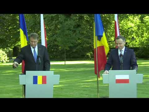 STIRIPESURSE.RO Declaratiile presedintilor Klaus Iohannis si Andrzej Duda la Varsovia