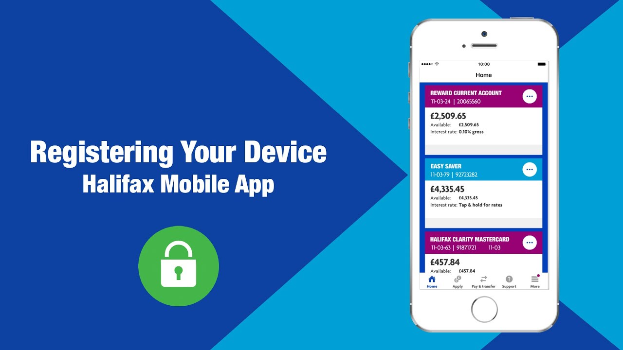 Halifax | Register your mobile device | Mobile Banking
