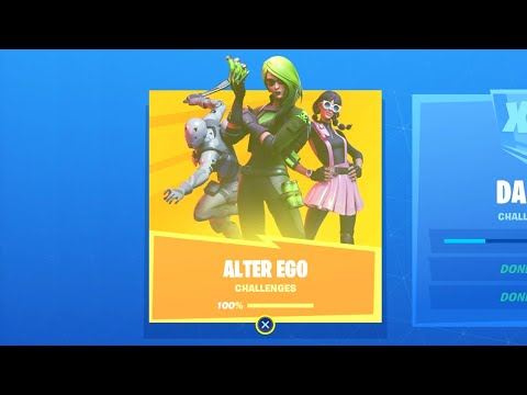 Fortnite All 'Alter EGO' Challenges Guide & Secret Outfit Styles - Chapter 2 Season 1