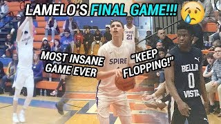 LaMelo Ball LOSES Last Ever High School Game! Melo Leads INSANE COMEBACK Vs Zion Harmon 😱