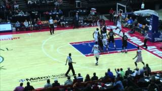 Play of the game: Brandon Fields takes off! Grand Rapids Drive 101, Idaho Stampede 97