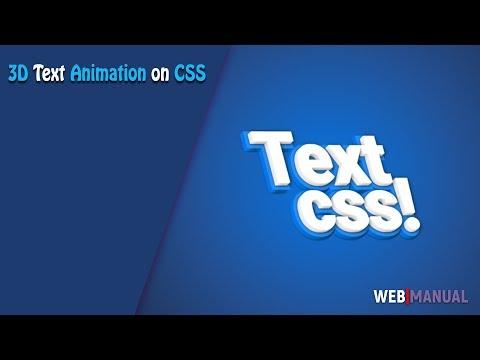 Магия CSS #5 ➤ 3D анимация текста на CSS (3d Text Animation On Css)