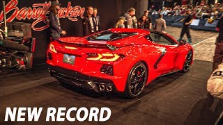 *EXCLUSIVE COVERAGE* FIRST MID-ENGINE C8 CORVETTE SELLS FOR 3 MILLION DOLLARS!