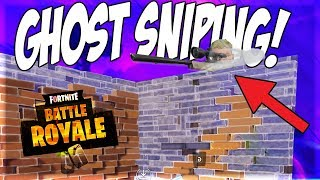 "HOW TO GHOST SNIPE IN FORTNITE BATTLE ROYALE!! ""Is This OP for This Game??"""
