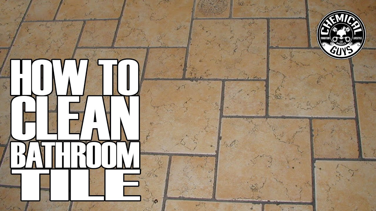 How To Clean Bathroom Tile Grout Chemical Guys Drill Brush YouTube - Best way to clean bathroom wall tiles