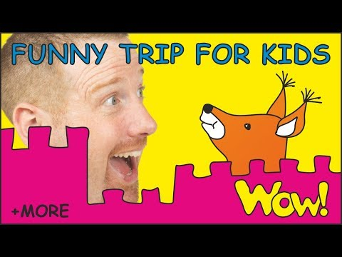 Funny Trip for Kids  MORE Stories for Children with Steve and Maggie  Learn English Wow English TV