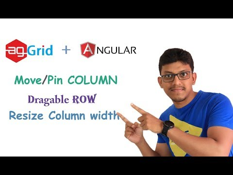 agGrid + angular: movable column ,dragable row, resize column width by  CodeSpace