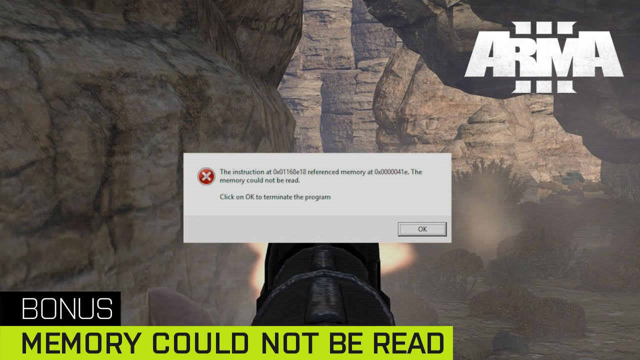 arma 3 memory could not be read