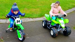 Ride on Giant Quad & Motorbike Kids Fun