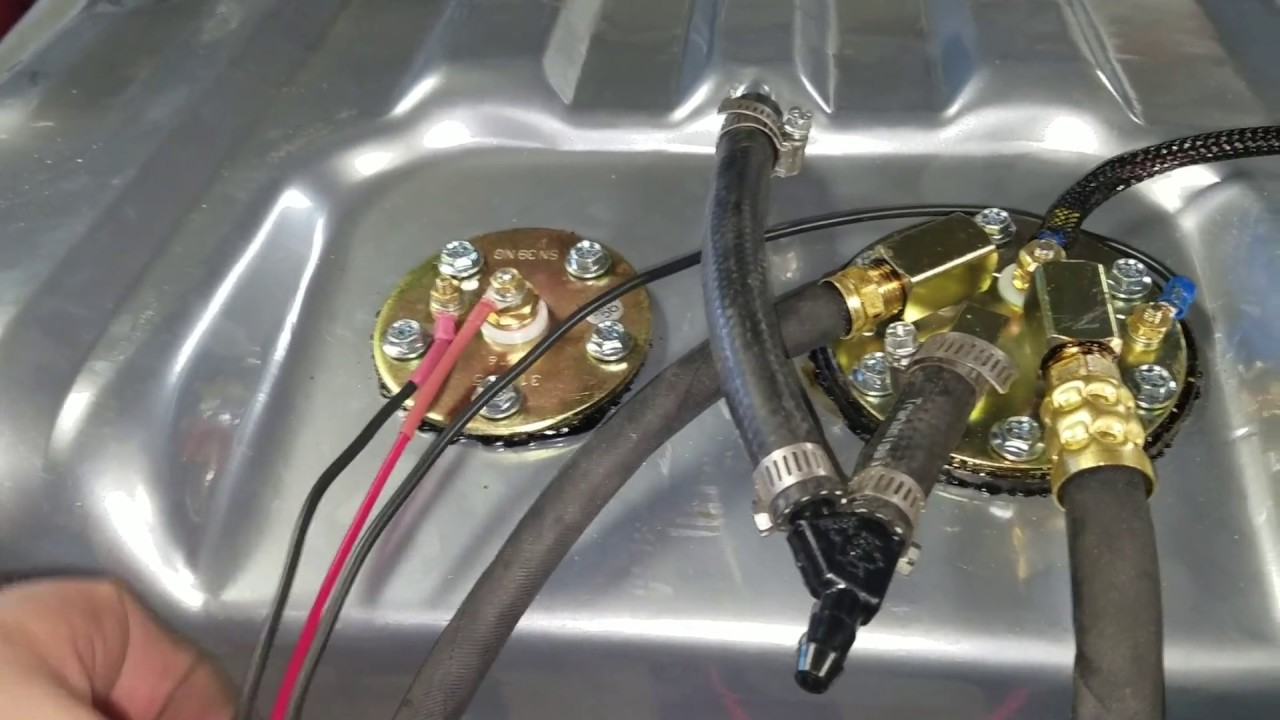 1970 Challenger FuelGas tank removal and replace EFI intank Fuel pump  YouTube