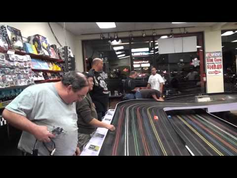 Slot Car Racing at Slot Car City new race way, last heat of expert class